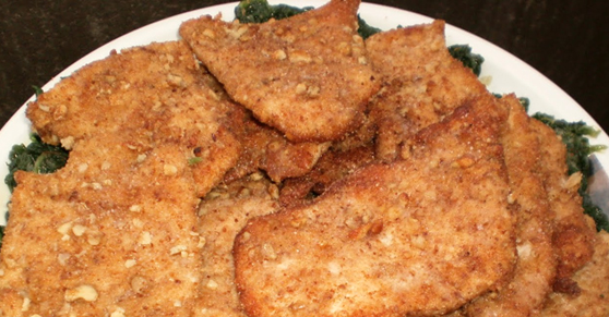 Cotolette di tacchino con noci - Turkey cutlets with walnuts